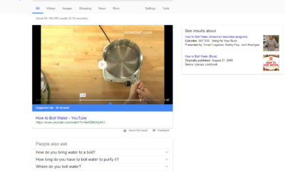 Video Thumbnails inside Google Search Snippets