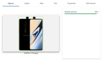 Google AI Image Analysis tool