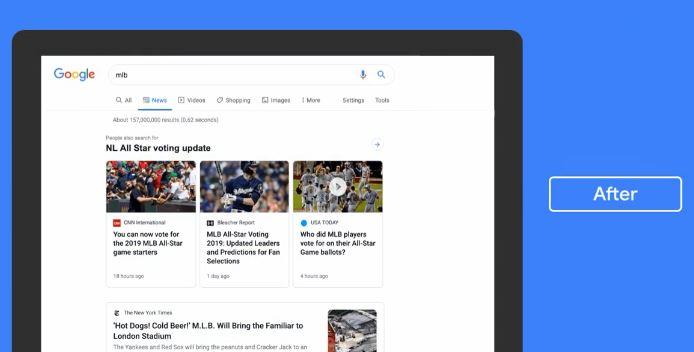 Google News new design