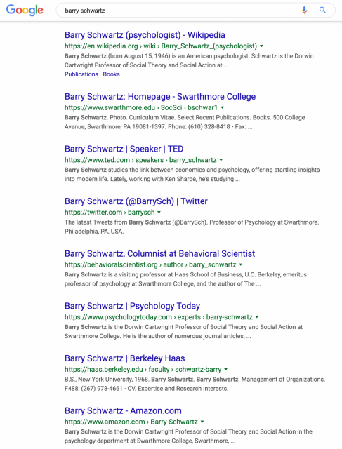 Google seems to be testing breadcrumbs in place of links on