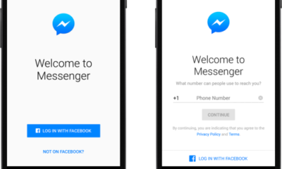 Facebook Messenger log in