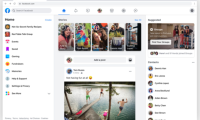 Facebook website redesign