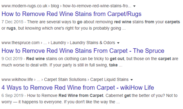 search results without favicons