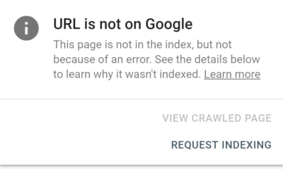 Google request indexing