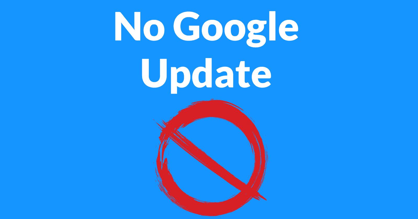 No google update