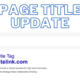 Page title update